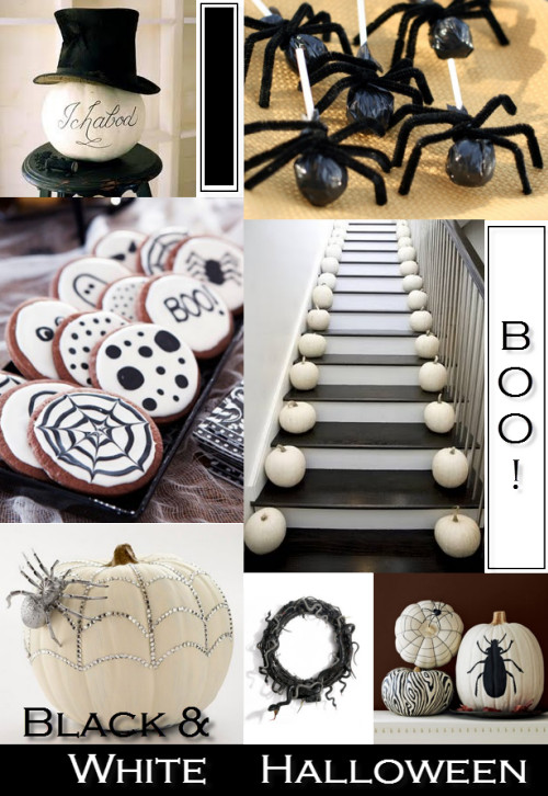 Black and White Halloween Decor Awesome Black & White Halloween Décor Simplified Bee