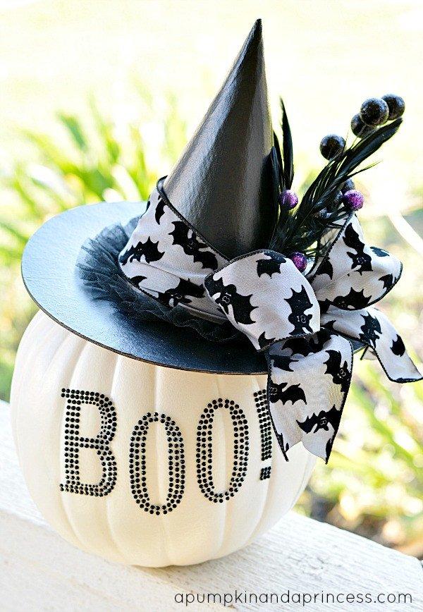 Black and White Halloween Decor Beautiful Black and White Glam Pumpkin A Pumpkin and A Princess