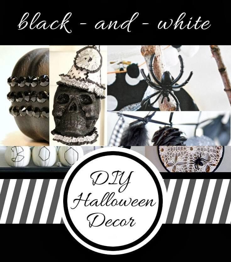 Black and White Halloween Decor Beautiful Black and White Halloween Decor Persia Lou