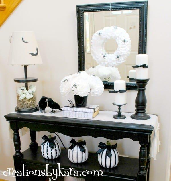 Black and White Halloween Decor Fresh Black and White Halloween Decor