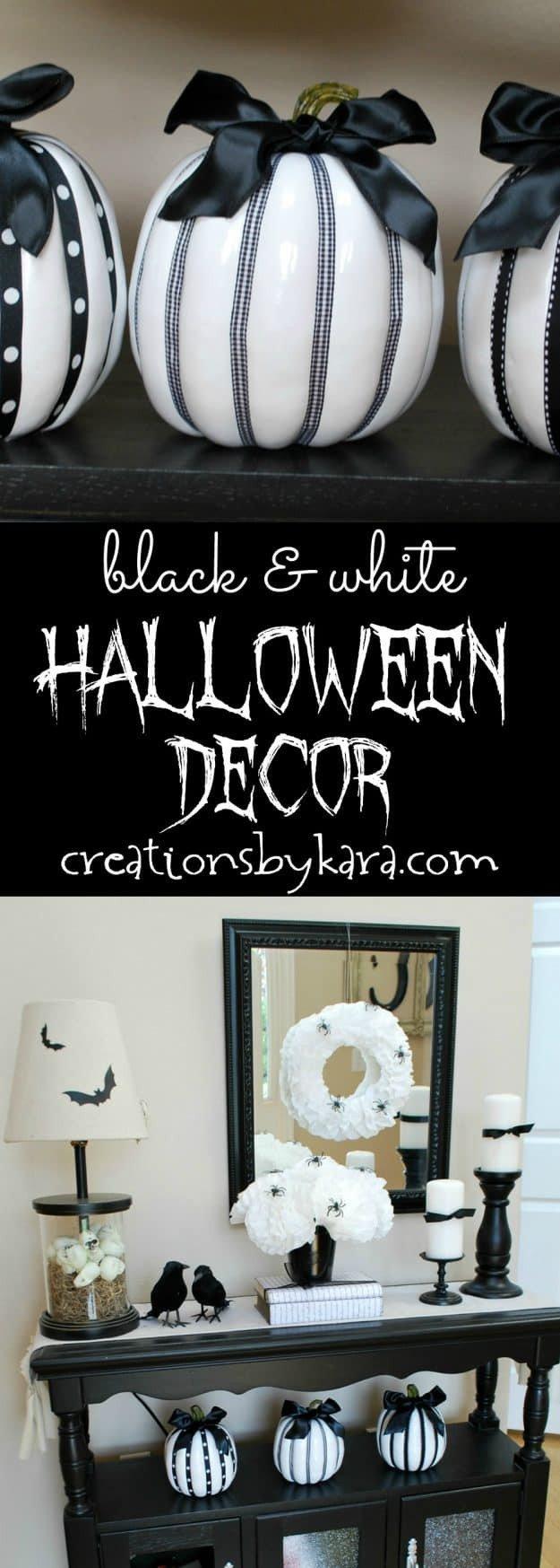 Black and White Halloween Decor Inspirational Black and White Halloween Decor