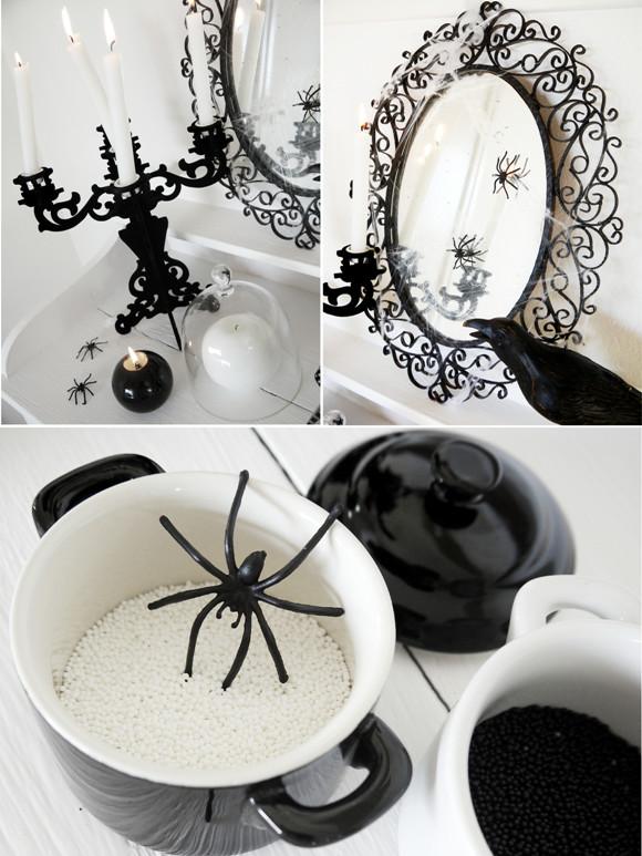 Black and White Halloween Decor Inspirational Black and White Halloween Decorating Ideas Party Ideas