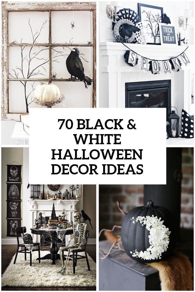 Black and White Halloween Decor New 70 Ideas for Elegant Black and White Halloween Decor Digsdigs