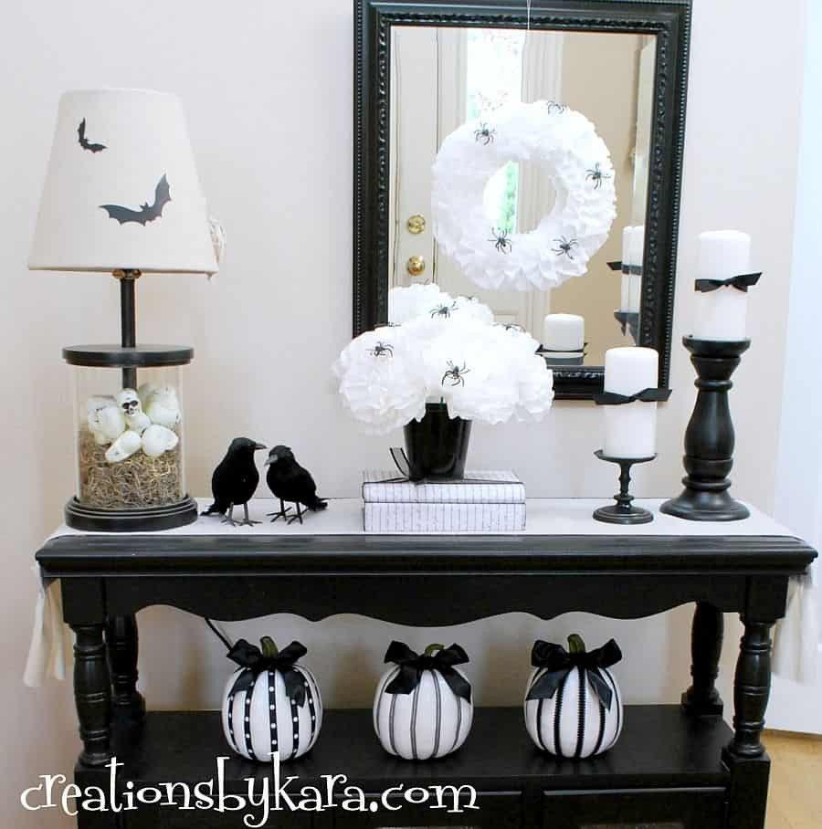 Black and White Halloween Decor New Timeless and Chic Creative Black and White Diy Decor Ideas