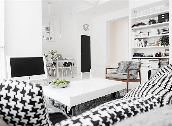 Black and White Home Decor Lovely Another Black and White Interior Design