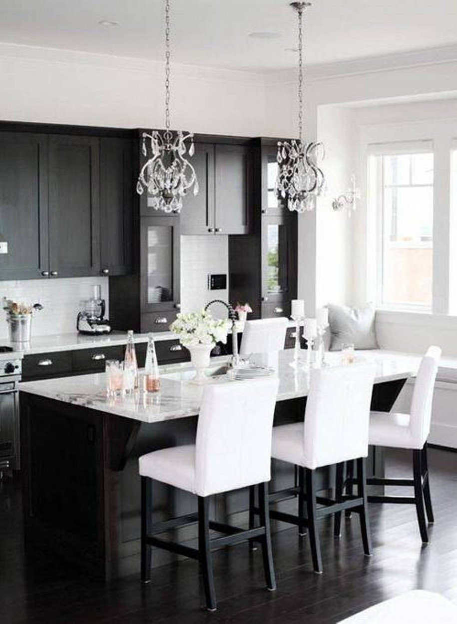 Black and White Kitchen Decor Beautiful Black and White Kitchen Ideas
