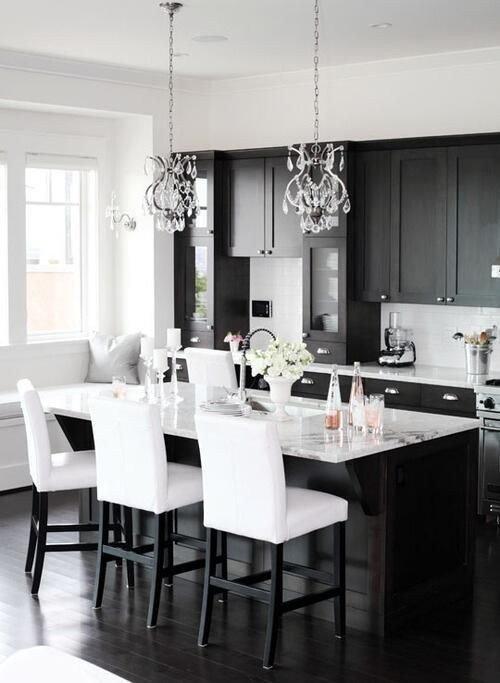 Black and White Kitchen Decor Elegant 34 Timelessly Elegant Black and White Kitchens Digsdigs