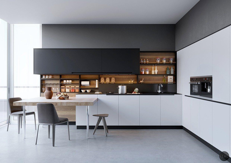 Black and White Kitchen Decor Elegant Black White & Wood Kitchens Ideas & Inspiration