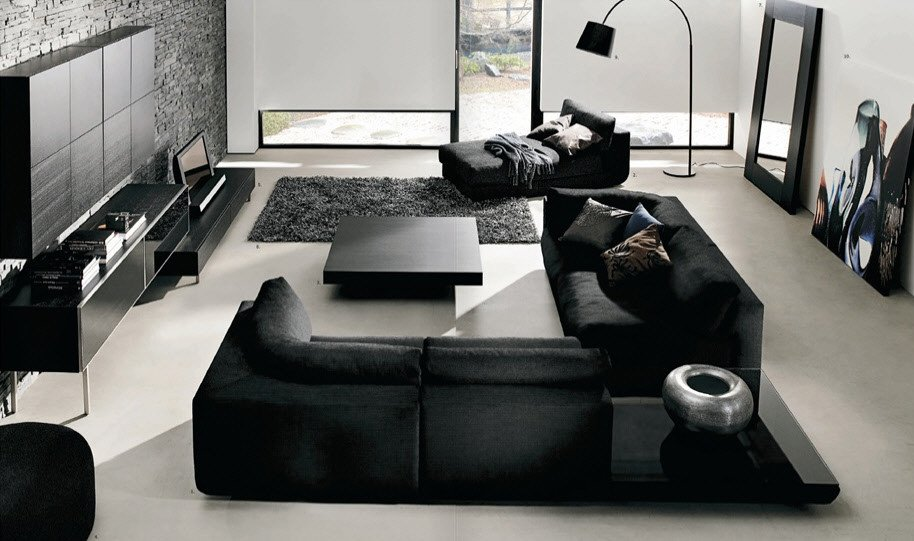 Black and White Living Room Decorating Ideas Beautiful Black and White Living Room Interior Design Ideas