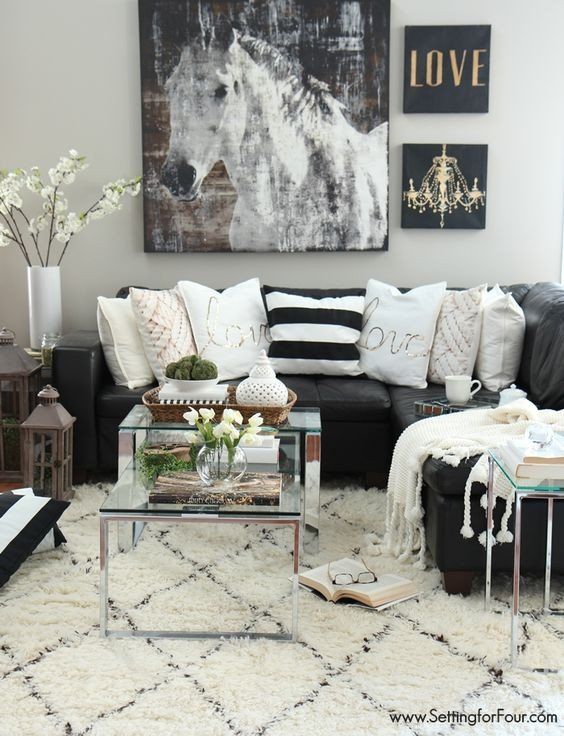 Black and White Living Room Decorating Ideas Best Of 48 Black and White Living Room Ideas Decoholic