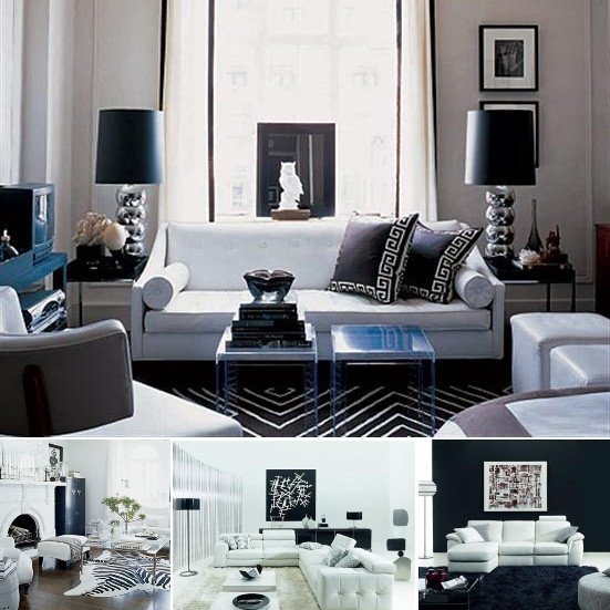 Black and White Living Room Decorating Ideas Elegant White and Black Room Ideas