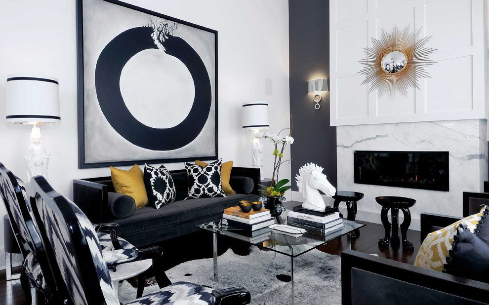 Black and White Living Room Decorating Ideas Inspirational Black and White Living Room Decoration