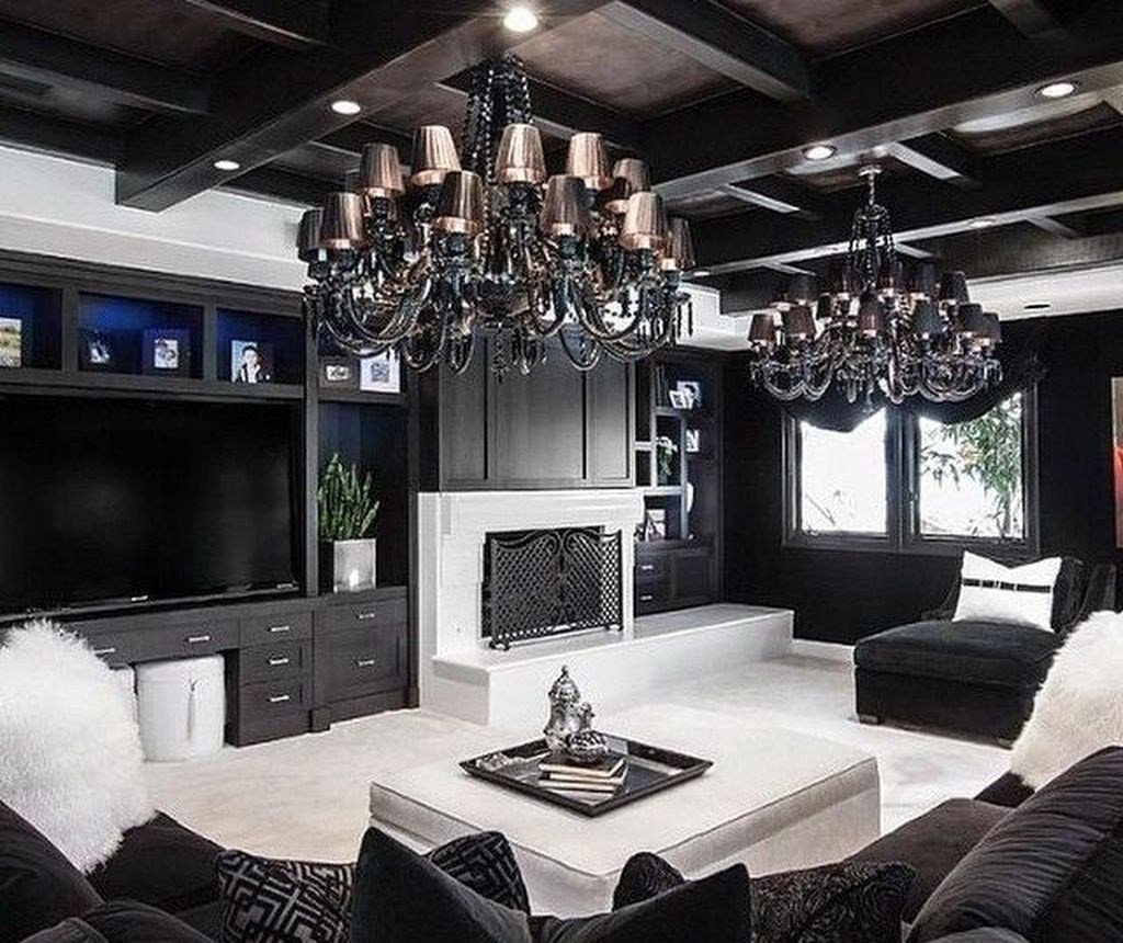 Black and White Living Room Decorating Ideas Lovely 48 Beautiful Black and White Interior Design Living Room Décor Ideas Homyfeed