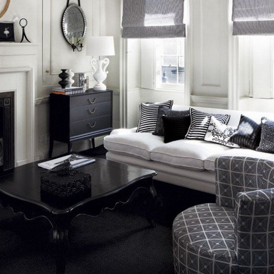 Black and White Living Room Decorating Ideas Unique 21 Creative&inspiring Black and White Traditional Living Room Designs Homesthetics Inspiring