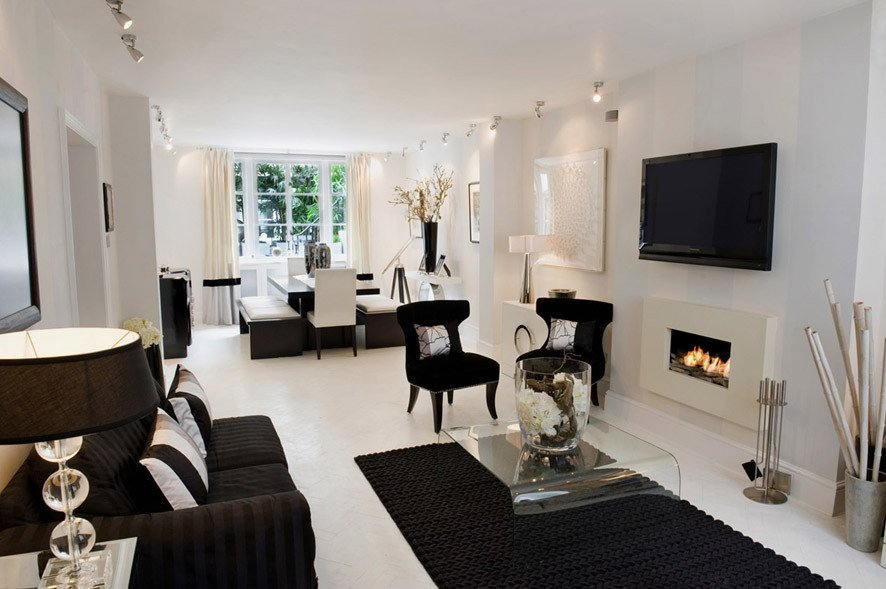 Black and White Living Room Decorating Ideas Unique Black and White Living Room Interior Design Ideas
