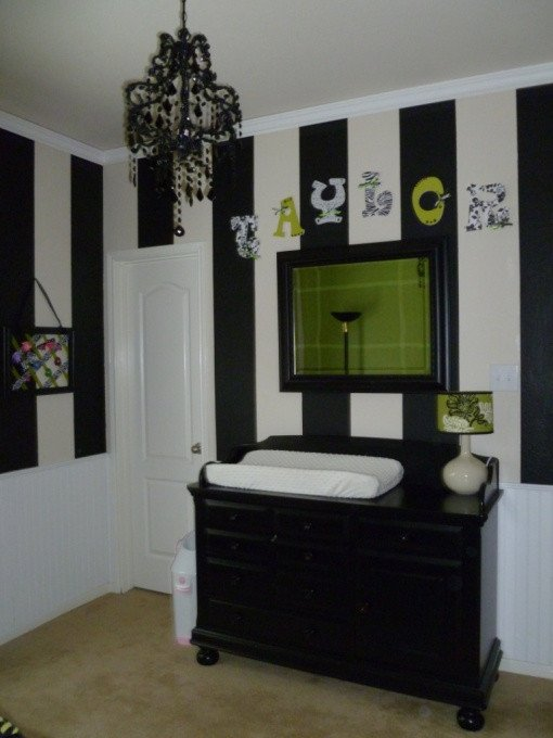 Black and White Nursery Decor Beautiful Girl S Nursery Black White & Jalapeno Green Design Dazzle