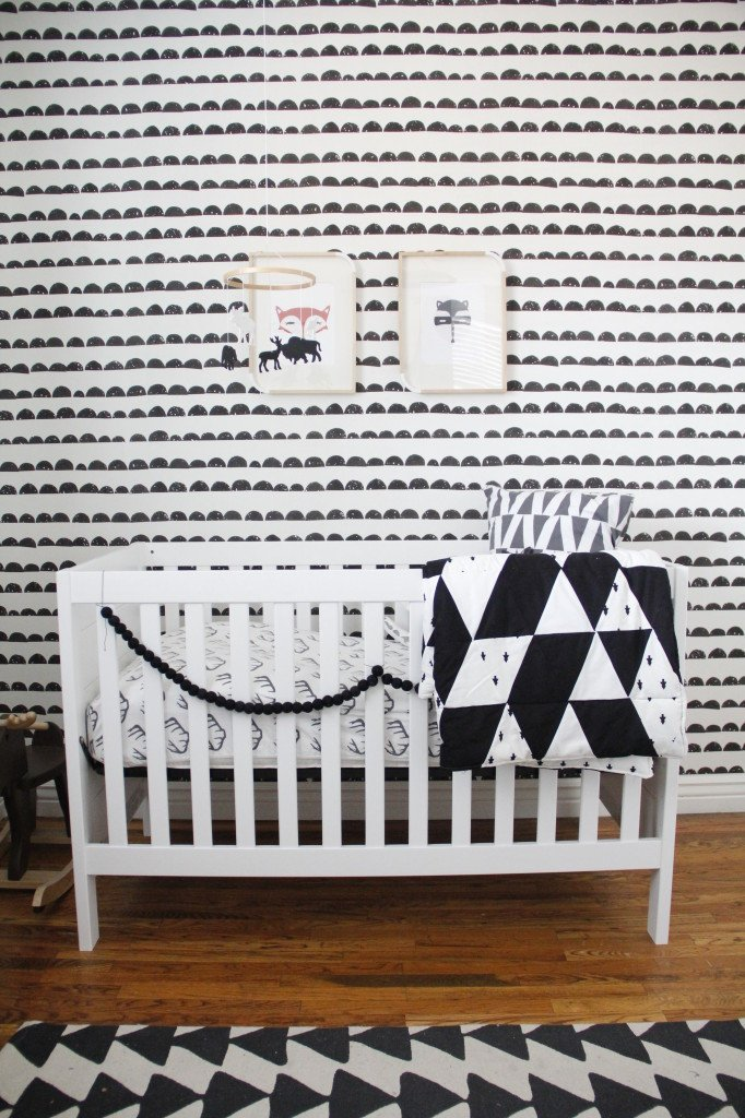 Black and White Nursery Decor Best Of Finn S Black and White Woodland Nursery Project Nursery