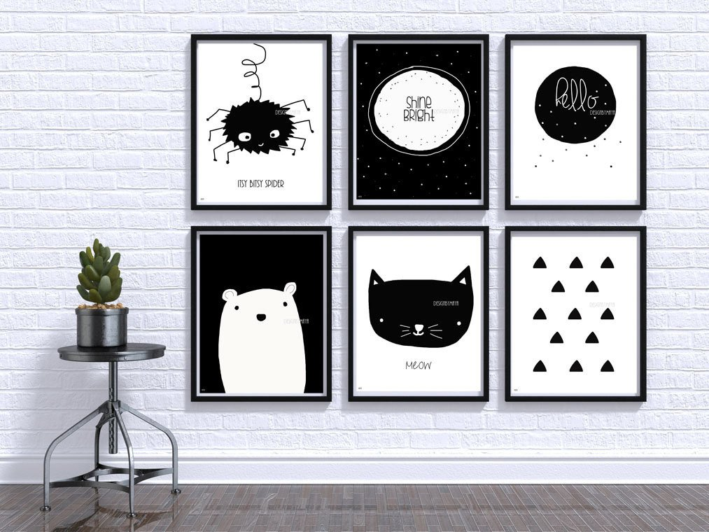 Black and White Nursery Decor Lovely Black and White Baby Print Nursery Wall Art Baby Room Decor