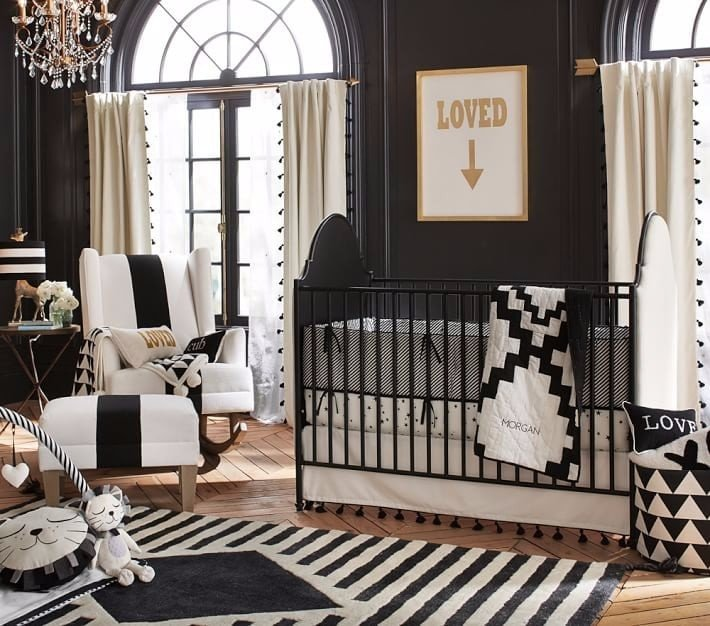 Black and White Nursery Decor Lovely Black and White Nursery Decor