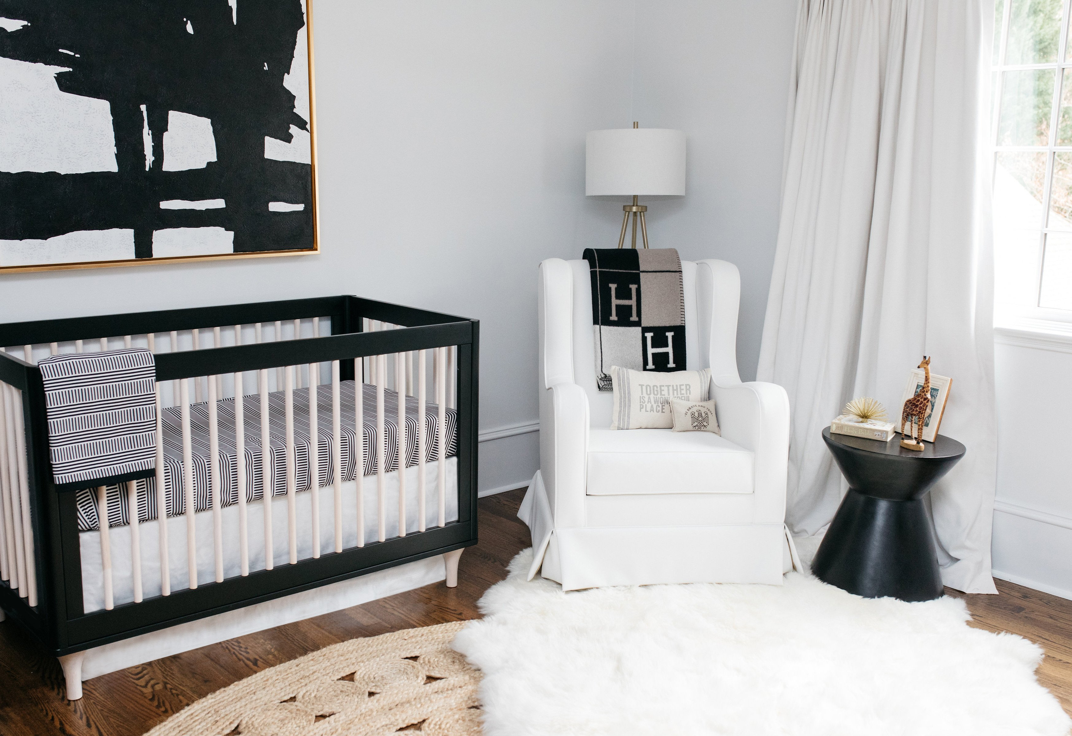 Black and White Nursery Decor Unique Celebrity Design Reveal Emily Maynard S Nursery Project Nursery