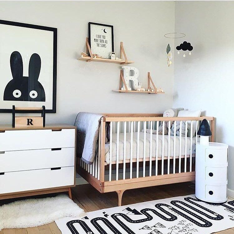 Black and White Nursery Decor Unique Modern Gender Neutral Nursery Decorations Black White Nurseries Kids Room Shelf