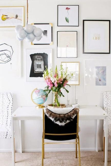 Black and White Office Decor Awesome Black and White Decorating Ideas for Home Fice Designs