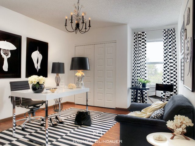 Black and White Office Decor Beautiful Black & White Fice Eclectic Home Fice San Francisco by Rachel Blindauer Interior Design