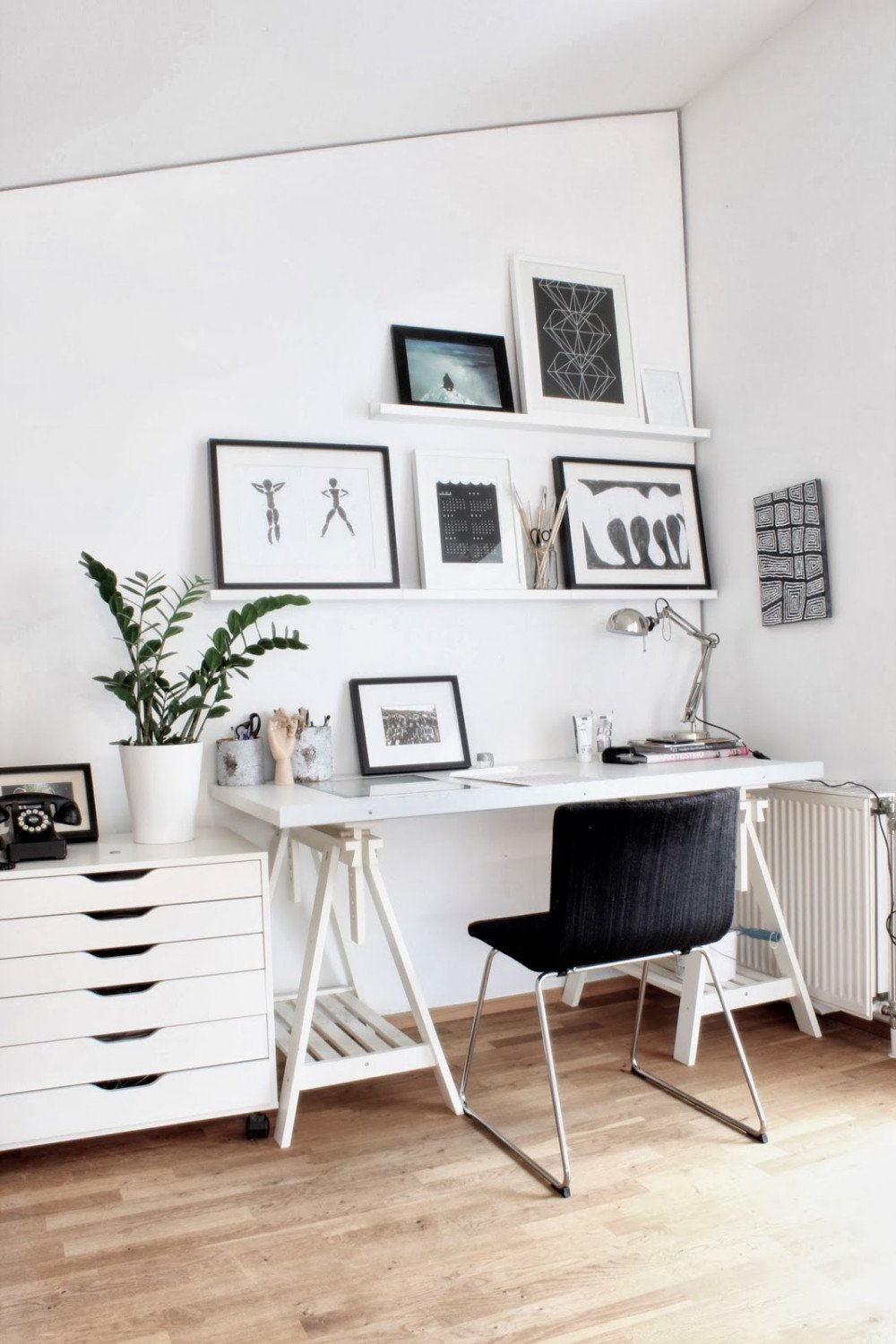 Black and White Office Decor Beautiful Interior Exquisite Home Office Images From Scandinavian Design Blogs Using White Wooden Wall