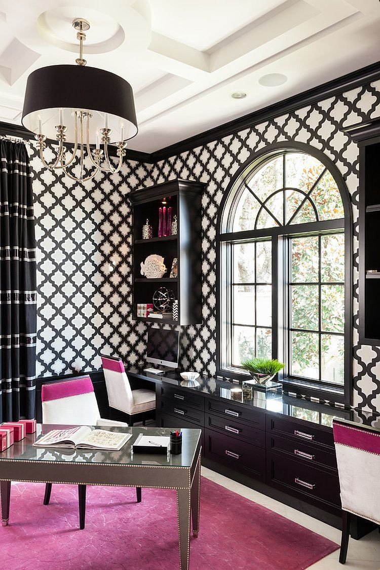 Black and White Office Decor Fresh 30 Black and White Home Fices that Leave You Spellbound