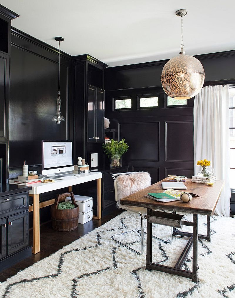 Black and White Office Decor Lovely 30 Black and White Home Fices that Leave You Spellbound