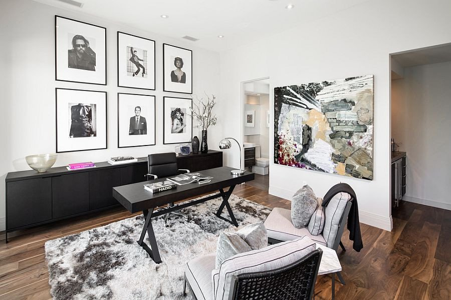 Black and White Office Decor New 30 Black and White Home Fices that Leave You Spellbound