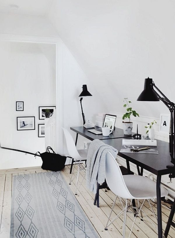 Black and White Office Decor New Stylish Offices for the Home