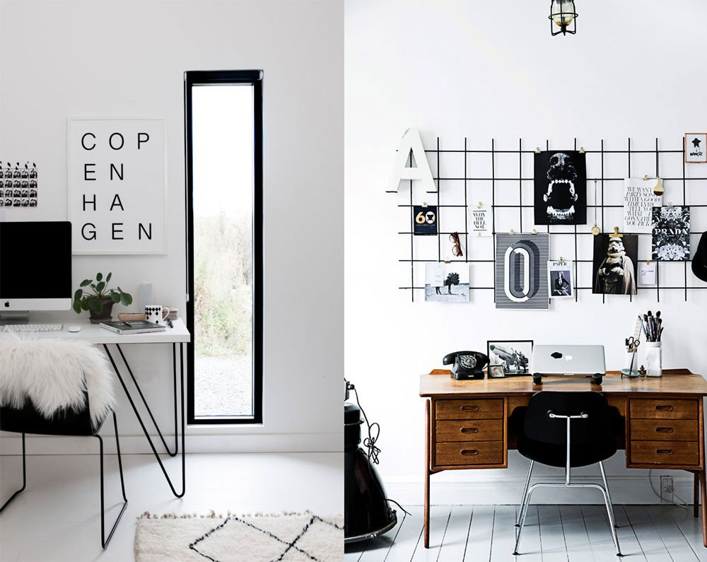 Black and White Office Decor Unique 11 Black & White Scandinavian Fice Decor Ideas Apartment Number 4