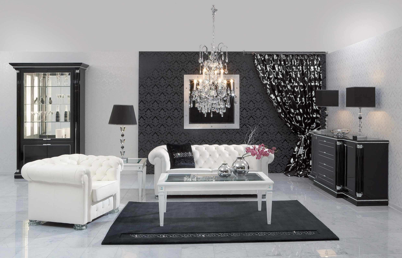 Black and White Room Decor Elegant Black and White Living Room Interior Design Ideas