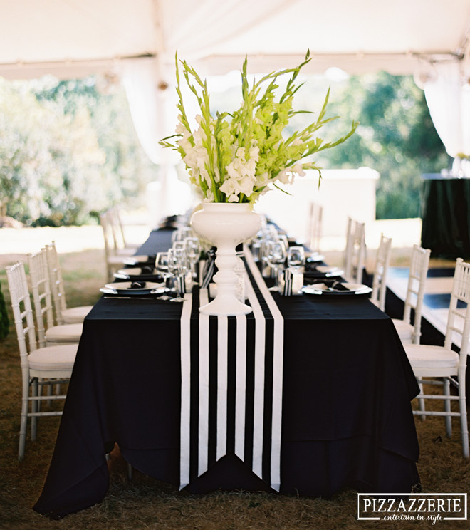Black and White Table Decor Fresh My Black and White Striped Wedding