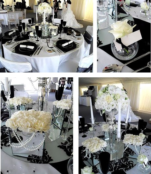 Black and White Table Decor Fresh Royal Wedding Accessories Black and White Wedding Decoration Ideas