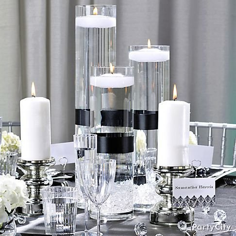 Black and White Table Decor Inspirational White Party Decorations