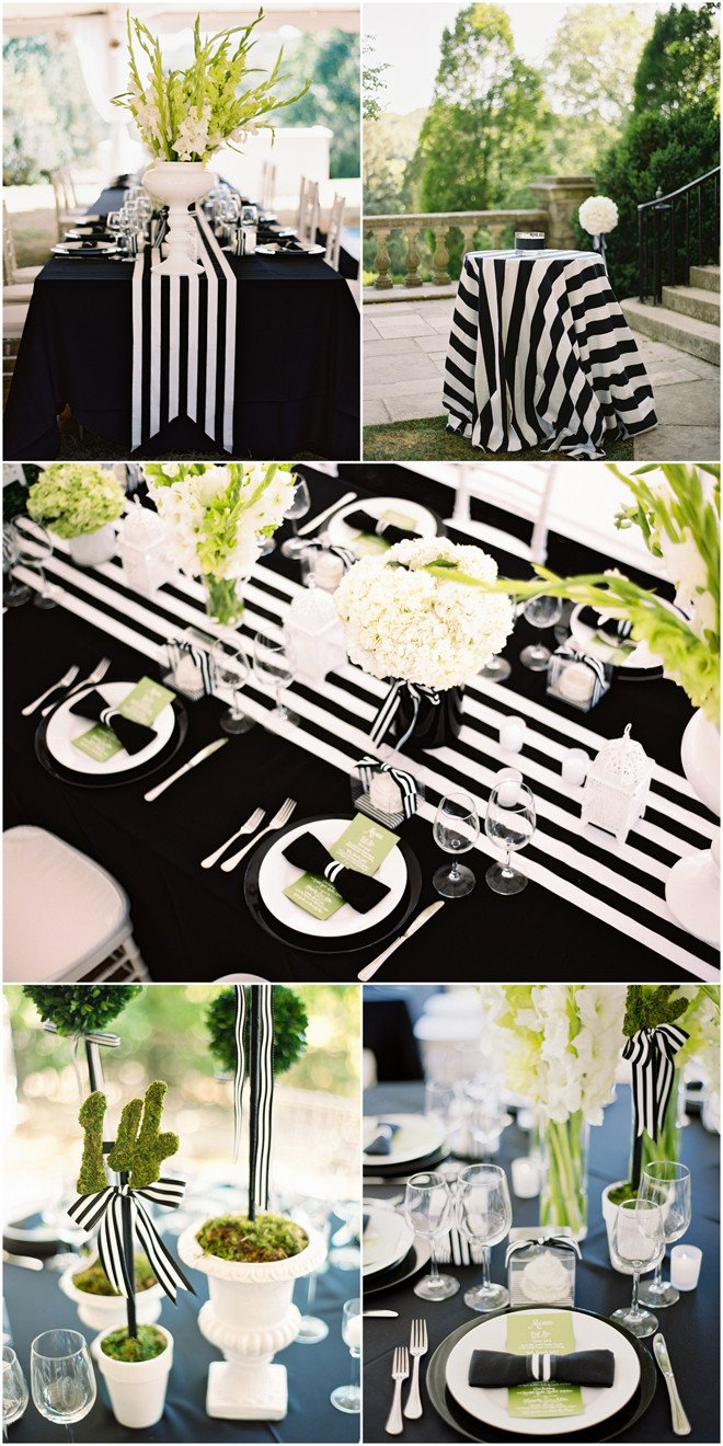 Black and White Table Decor New My Black and White Striped Wedding