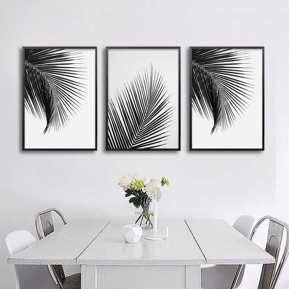 Black and White Wall Decor Awesome Black White Palm Tree Leaves Canvas Posters and Prints Minimalist Painting Wall Art Decorative