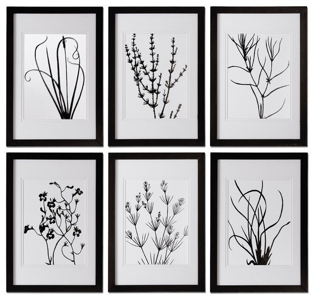 Black and White Wall Decor Beautiful Black and White Leaves Wall Art Contemporary Home Decor