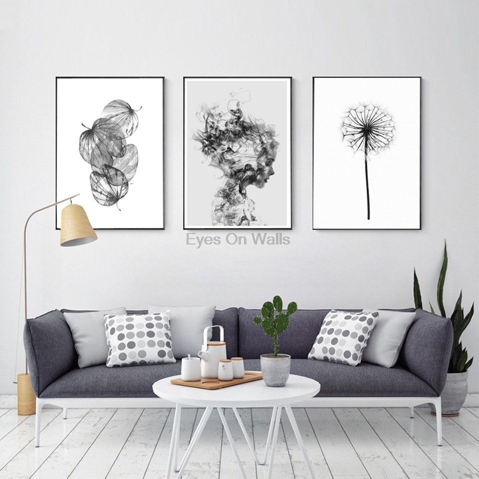 Black and White Wall Decor Best Of nordic Abstract Poster and Prints Black White Wall Art Canvas Painting Girl Picture for Living