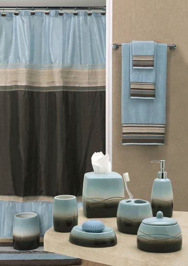 Blue and Brown Bathroom Decor Awesome Dark Choc Brown and Blue Wouldn T Want Accessories to Be Both Colours though