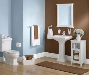 Blue and Brown Bathroom Decor Beautiful Blue Brown Bathroom 2017 Grasscloth Wallpaper