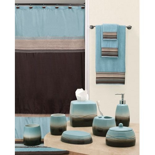 Blue and Brown Bathroom Decor Lovely Mystique Shower Curtain and Bathroom Accessories by Creative Bath for the Home