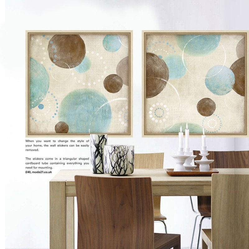Blue and Brown Wall Decor Awesome Light Blue Beige and Brown Circles Modern Abstract Painting Canvas Wall Art Decorative Artist