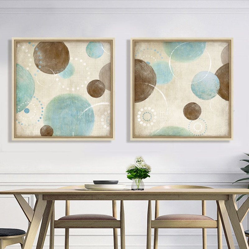 Blue and Brown Wall Decor Best Of Light Blue Beige Brown Circles Modern Abstract Painting Canvas Wall Art Decorative Artist Home