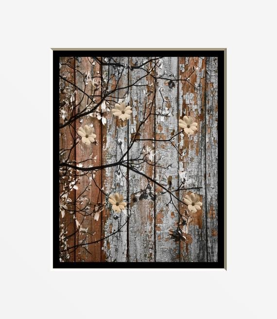 Blue and Brown Wall Decor Fresh Rustic Brown Blue Wall Art Graphy Dogwood Flowers