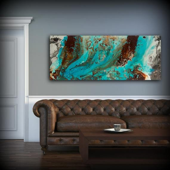 Blue and Brown Wall Decor Lovely Aqua Print Blue and Brown Wall Art Decor Colourful Bohemian