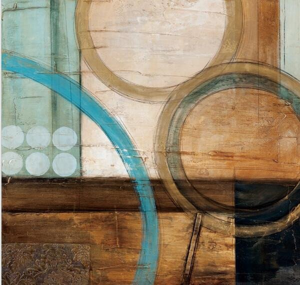 Blue and Brown Wall Decor Lovely Blue and Brown Circles Modern Abstract Oil Painting Canvas Wall Art Free Shipping Decorative