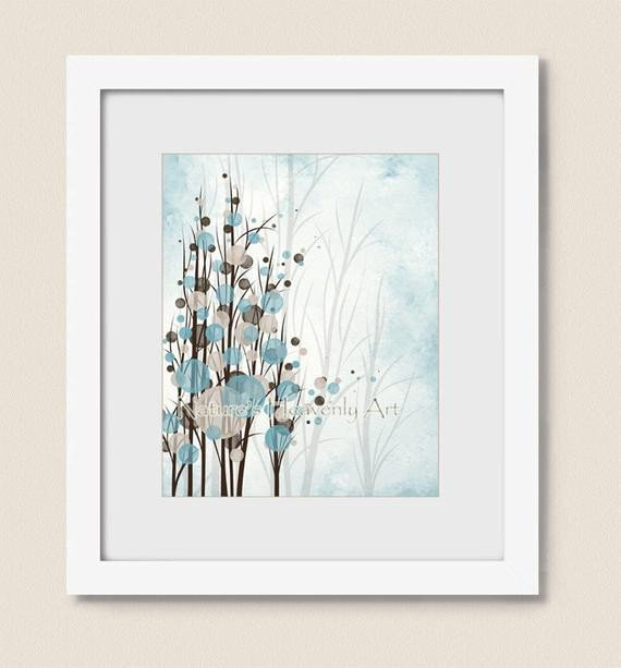 Blue and Brown Wall Decor New Blue and Brown Wall Decor Tree Art Print Circle Wall Art Tree